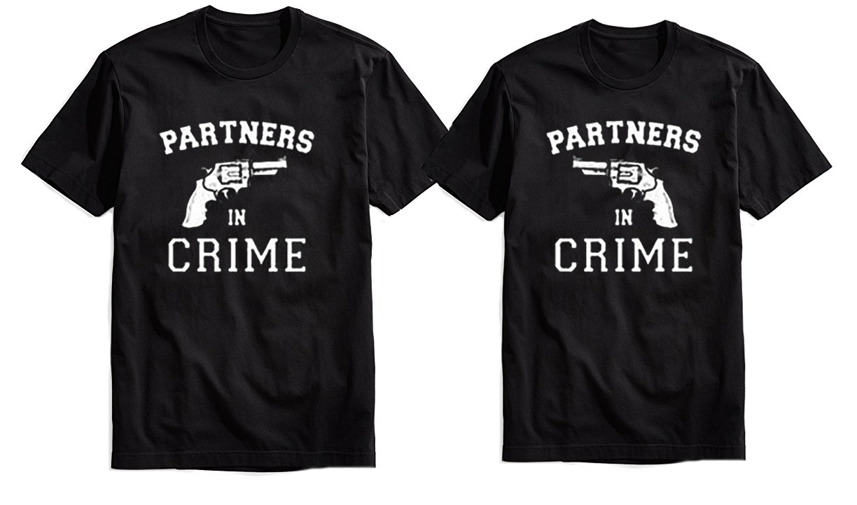 Matching Partners In Crime Shirts