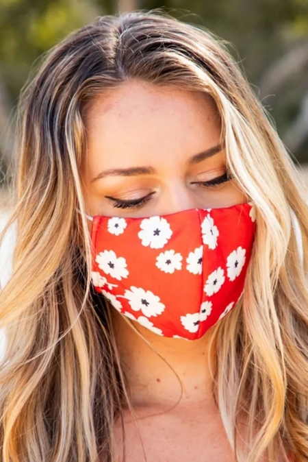 Buy Cloth Face Coverings With Flower Print Here