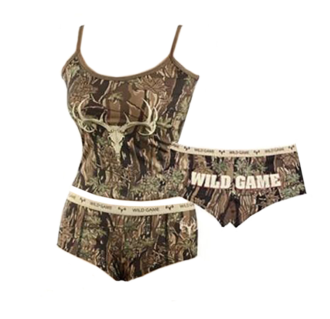 Country girl hunting wild game panty and camisole top