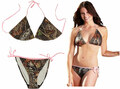 Women's Pink String Camo Bikini Swimsuit
