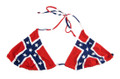 confederate rebel flag bikini top