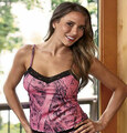 Ladies Pink Camo Camisole Top