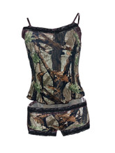 Sexy Country Girl Outfit With Lace and Camo Camisole and Black Lace