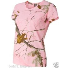 Pink Camouflage Realtree Shirt for women