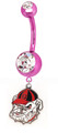 Bulldogs Pink Belly Button Ring - great graduation or any time gift