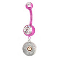Pink Titanium Winchester Belly Rings On Sale By Southern Sisters Brand