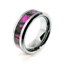Pink Camo Wedding Ring for her
