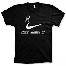 Just Shoot It Hunting Shirt With Nike Logo from Southern Sisters Designs.com