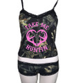 Country girl Lingerie that is perfect for camouflage lovers including the boy shorts and camisole top with a sexy lace trim