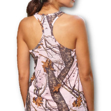 Ladies Mossy Oak Pink Racer back Tank To In Camouflage - Love Camo and order this top seller today and have it just about 2 to 5 business days from Southern Sisters Designs.