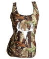deer skull womens tank tops in mossy oak camouflage