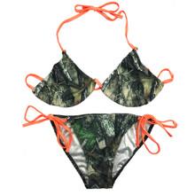 Orange String Camo Bikini for Women - Swimsuits by Huntress