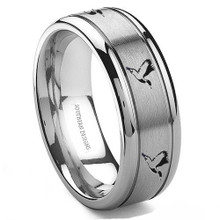 Tungsten Silver Duck Hunting Ring On Sale - Best Prices Gauranteed