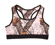 Mossy Oak Pink Break Up Sports Bra