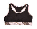 Mossy Oak Sports Bra with Pink Break Up Trim