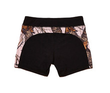 Black and Pink Camo Work out Shorts