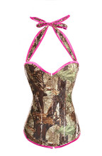 Camouflage Corset Over bust Lingerie