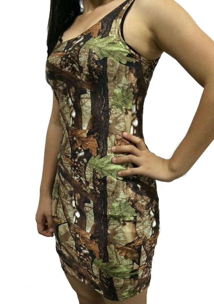 f5f6d2433f Huntress Camo Fitted Dress - Sleeveless. Loading zoom
