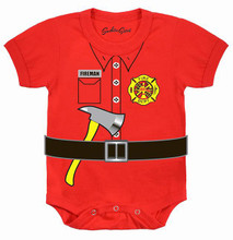 Baby Fire Fighter Onesie for Future Fireman by Southern Sisters Designs Online Store ships fast across the USA. Birthdays and halloween parties costumes and dress up