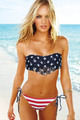 American Flag Tassel Bikini