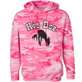"""His Doe"" Silhouette on Pink Woodlands Camo Hoodie"