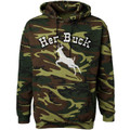 Her Buck Camouflage Hoodie Sweatshirt On Sale