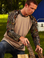 Men's Mossy Oak Break-Up Long Sleeve Raglan
