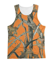 Orange Blaze Camo Tank Top for Women, Teens