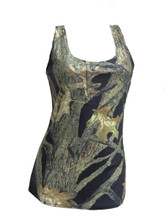 ladies black camo tank top