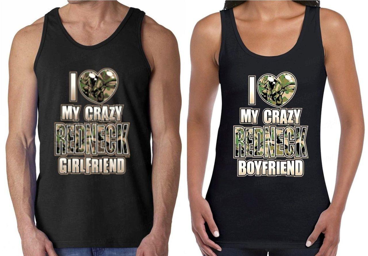 0abfdfbafb I Love My Crazy Redneck Boyfriend Girlfriend Couples Tank Tops. Loading zoom