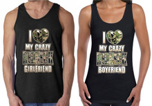 I Love My Crazy Redneck Boy Friend and Girl Friend Couples Tank Top Shirts
