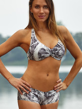 Mossy Oak white Camo swim suit halter top and boy shorts