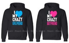 I Love My Crazy Boyfriend and Girlfriend Hoodie Set Great Valentines Day gift