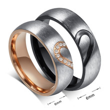 Couples Matching Split Heart Ring