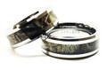 Couples His and Hers Camo Ring Band Set