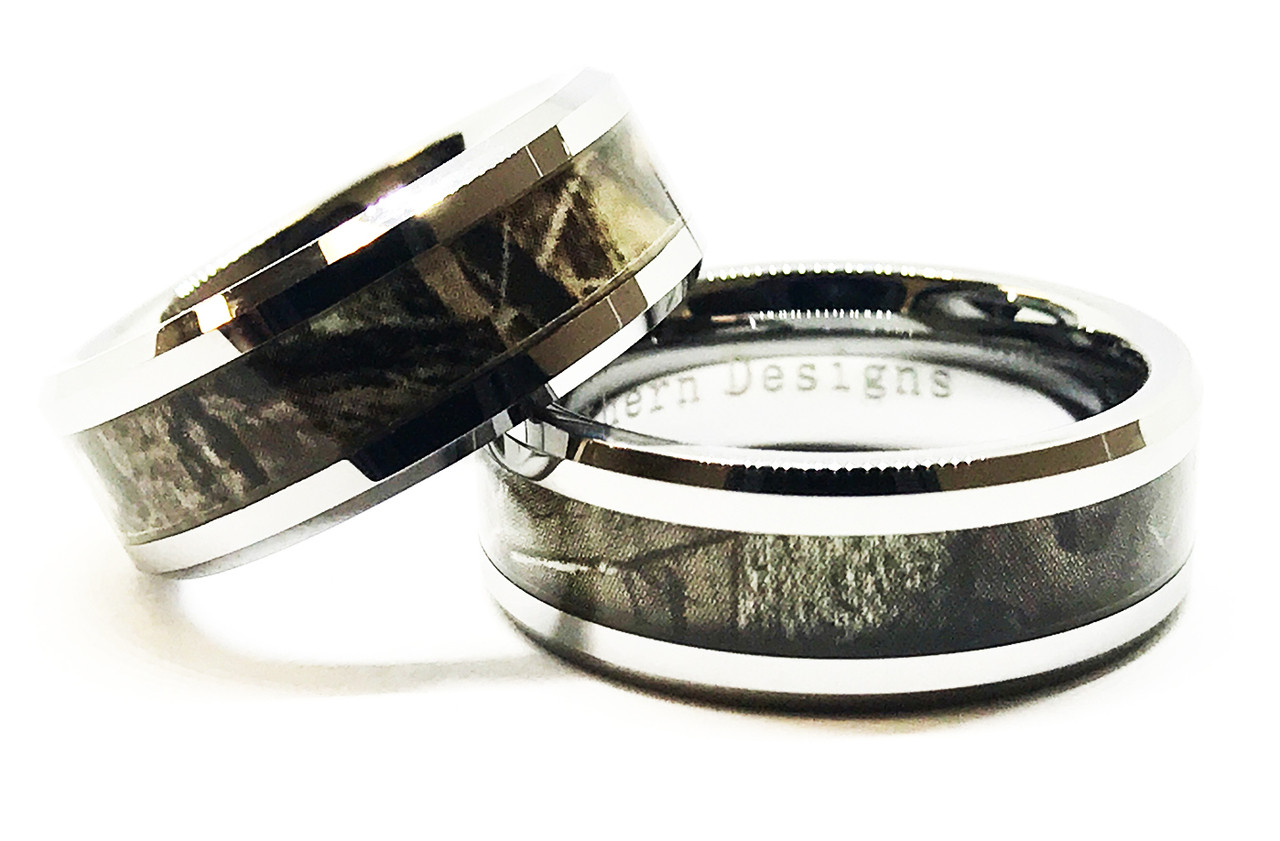 Camouflage Couples Ring Set His And Hers