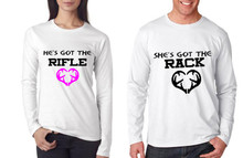 He's Got The Rifle and She's Got The Rack Couples T Shirts