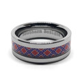 Rebel Flag Wedding Ring Silver Band Girlfriend Boyfriend husband Wife