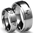 Hunting Fishing Wedding Rings