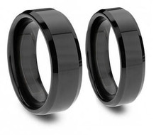 Midnight Couples Rings Set - His and Hers