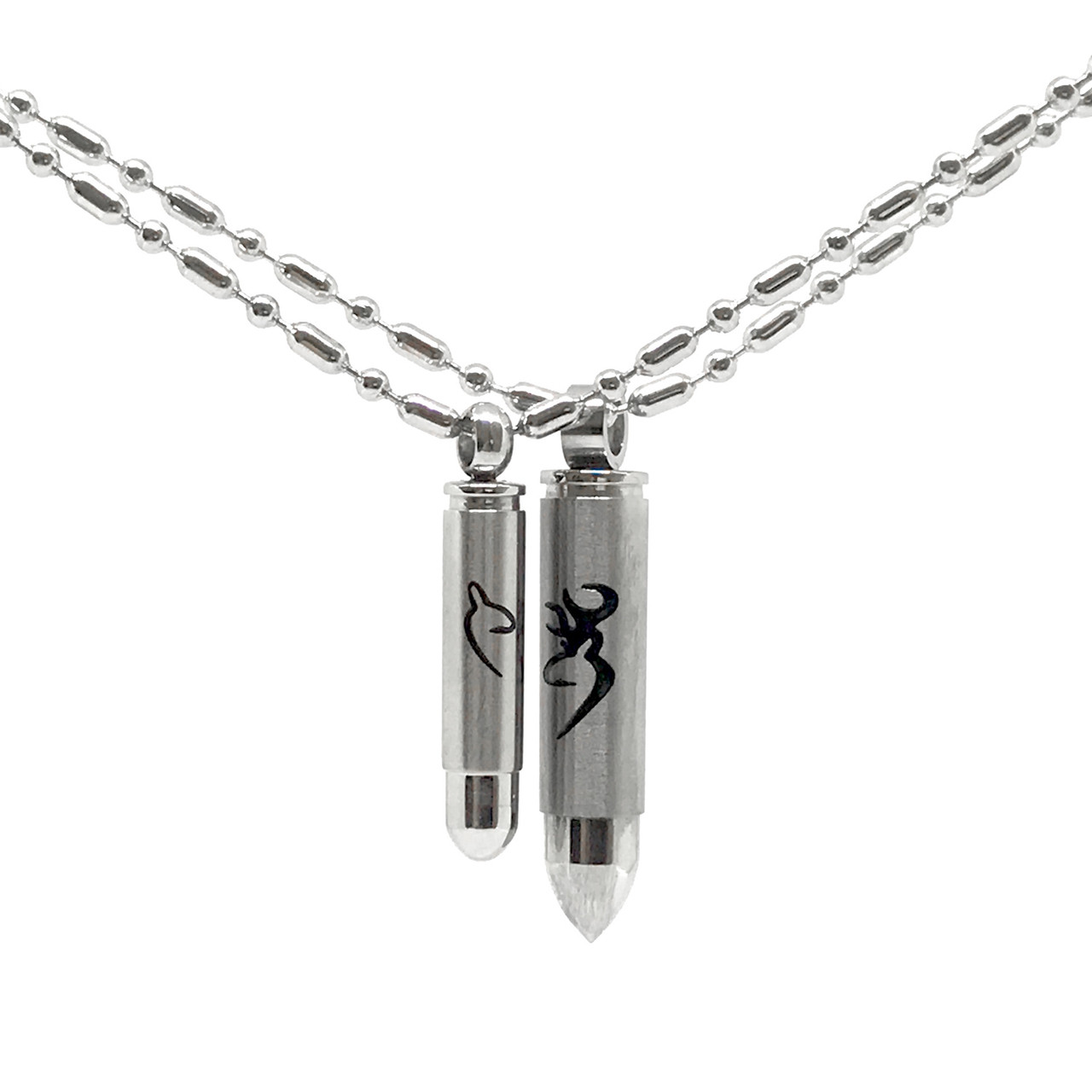 8a6d0dc412 Couples Hunting Jewelry - Bullet Deer Necklaces. See 1 more picture