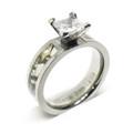 White Camouflage Wedding Engagement Ring