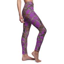 Women's Purple Camo Leggings in Hunting Pattern by Huntress