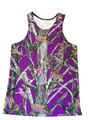 Purple Camo tank tops for women - semi fitted