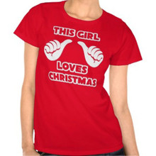 This Girl Loves Christmas Thumbs T Shirt