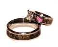 Camo Wedding Set With Pink and Mens Camo Band