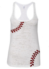 Women's Baseball Tank Top For Mom's of Players or Lovers Of The Game MLB
