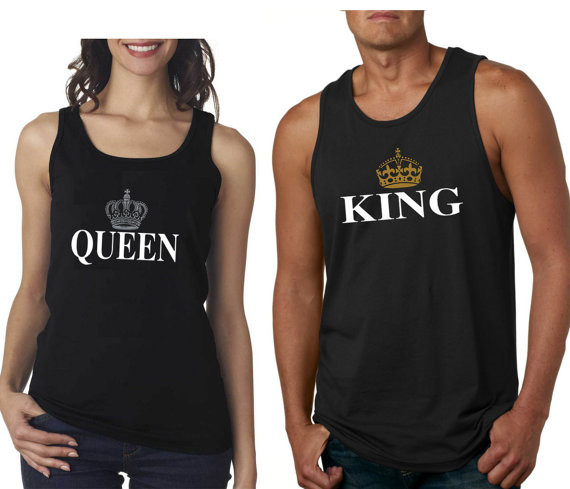 14c921c69b717e King and Queen Couples Tank Tops Set. Loading zoom