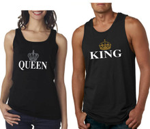 King and Queen tank tops for couples