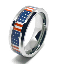 American Flag Wedding Ring For Men or Women